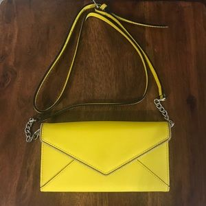 Rebecca Minkoff Cleo Wallet on a Chain in Limeade